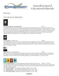 Master Catalog - Ecovative Enterprises