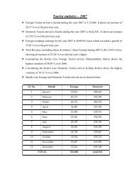 Tourist statistics – 2007 - Kerala Tourism