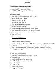 APPENDIX Category I- Tour operators/Travel ... - Kerala Tourism