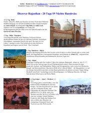Rajasthan Komplett 20 Tage - Maharaja-Reisen