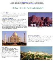 Druck von: Fazinierendes Rajasthan in 13 Tage ... - Maharaja-Reisen
