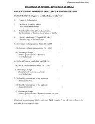 (Specimen application form) - Kerala Tourism
