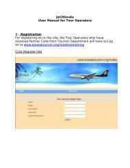 User Manual - Kerala Tourism
