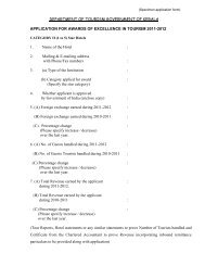 Category II (1 to 5) - Kerala Tourism