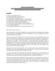 Minutes of the Joint Meeting of Dept. of Tourism ... - Kerala Tourism