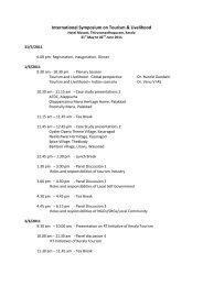 International Symposium on Tourism & Livelihood - Kerala Tourism