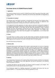 Einkaufsbedingungen der LOSAN Pharma GmbH-EN