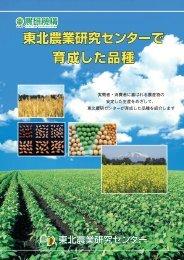 育成した品種パンフレット - 農業・食品産業技術総合研究機構