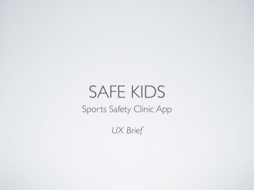 Sports Safety Clinic App UX Brief - Soma Ray