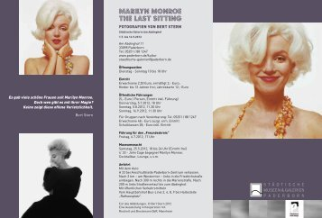 Marilyn Monroe The last sitting - Paderborn.de