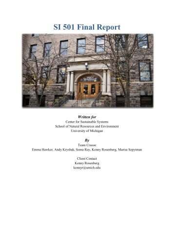 SI 501 Final Report - Soma Ray