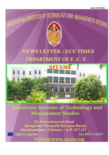 ECE-TIMES August 2012 - Sreenivasa Institute Of Technology and ...