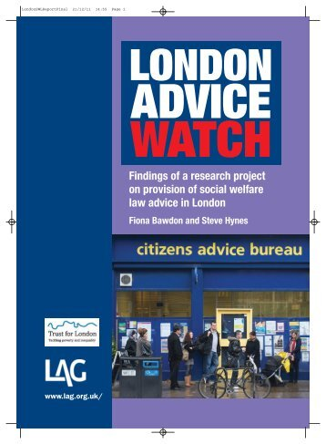 London Advice Watch - Legal Action Group