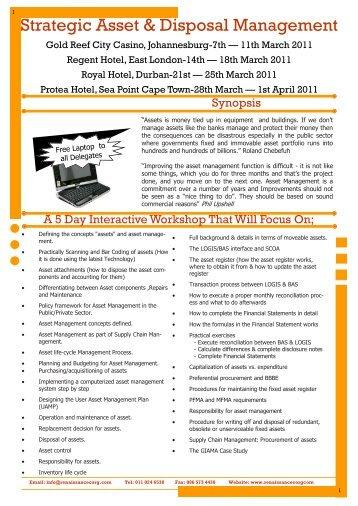 Strategic Asset & Disposal Management - Renaissance Corporate ...