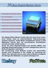 M-Bus Digital Master Serie - PadMess GmbH