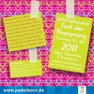 Fest der Begegnung - Paderborn.de