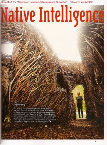 Hana Hou! The Magazine of Hawaiian Airlines (volume 15 number 1 ...