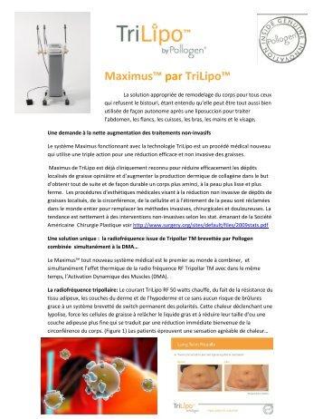 Maximus™ par TriLipo - Les Professions Esthétiques