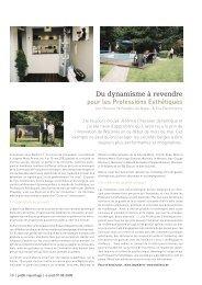 Dynamisme - Les Professions Esthétiques