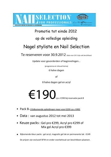 Nagel styliste en Nail Selection
