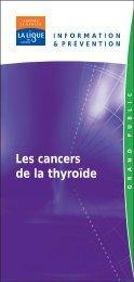 Les cancers de la thyroïde - Onconet