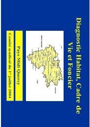 Diagnostic Habitat, Cadre de Vie et Fon cier - Pays Midi-Quercy