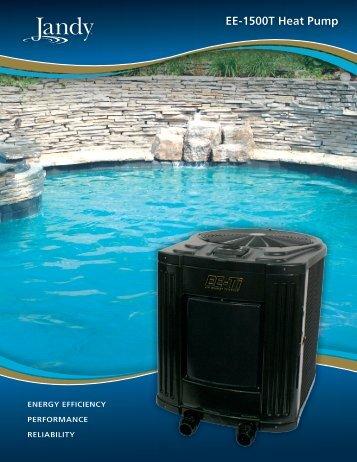 Jandy EE-1500T Brochure PDF - Poolheatpumps.com