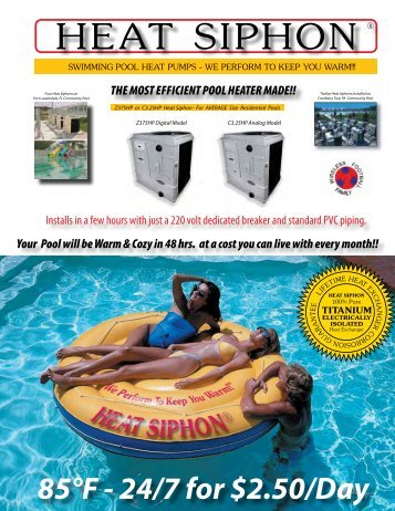 Heat SiPHon ® - Poolheatpumps.com