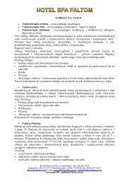 zabiegi na cialo(1).pdf - Hotel Faltom