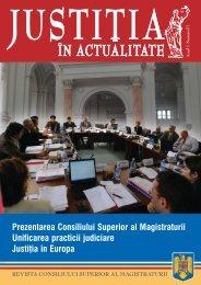 Prezentarea Consiliului Superior al Magistraturii Unificarea practicii ...