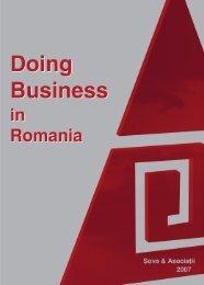 Sova & Asociatii Doing Business in Romania 2007