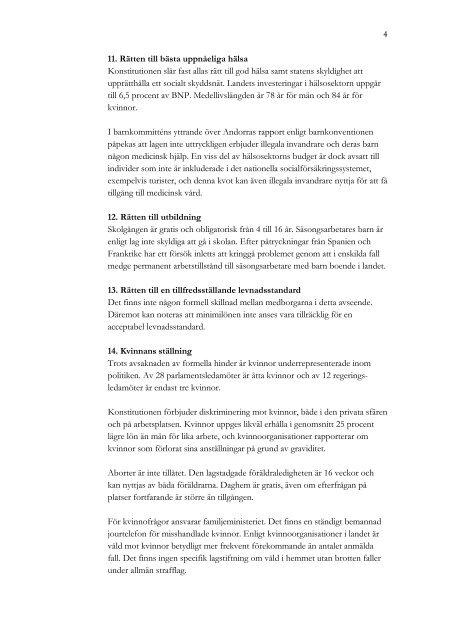 Mänskliga rättigheter i Andorra
