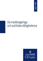 De medborgerliga och politiska rättigheterna - Mänskliga rättigheter