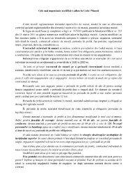 Cele mai importante modificări aduse la Codul Muncii Codul muncii ...