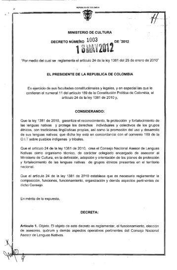 Decreto 40 2012 ministerio de econom a for Decreto ministerio del interior