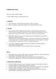 CV – AD - UCDC - Universitatea Crestina Dimitrie Cantemir