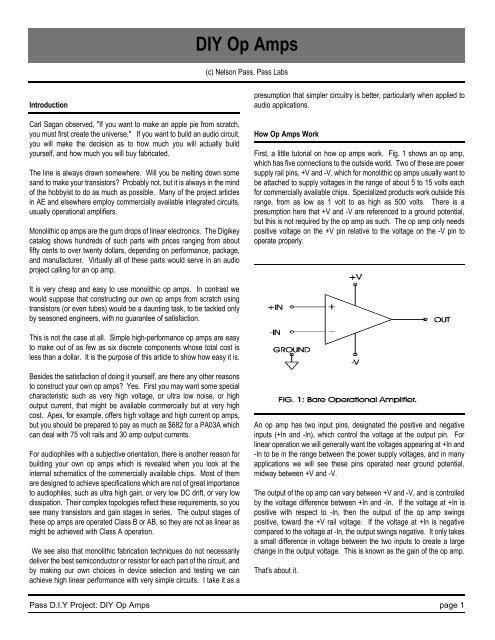 DIY Op Amps - First Watt