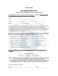 PRE-REGISTRATION FORM - Women's Press