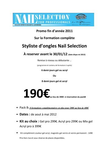 Styliste d'ongles Nail Selection