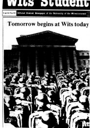 Tomorrow begins at Wits today