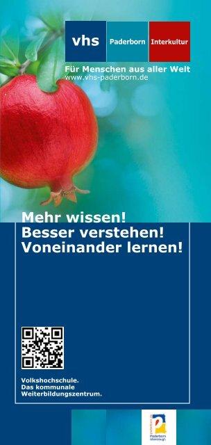 Mehr wissen! Besser verstehen! Voneinander lernen! - Paderborn.de