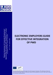 PRELIMINARY DOCUMENT - Supported employment PWD ...