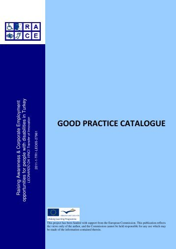 GOOD PRACTICE CATALOGUE - Supported employment PWD ...