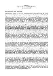 Inleiding Algemene Ledenvergadering KansPlus 22 november 2008 ...