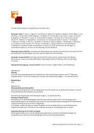 Concept Notulen Algemene Vergadering 19 november ... - KansPlus
