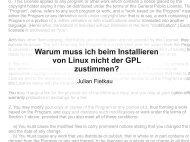 Warum muss ich beim Installieren von Linux nicht ... - julian-fietkau.de