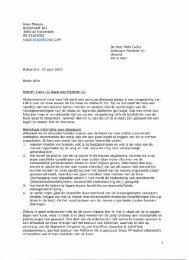 agendapunt 7 – Brief Kees Marges aan Platform VG ... - KansPlus