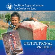 Institutional Profile - Rural Water Supply and Sanitation Fund Board