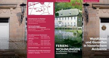 Haus-Flyer - Urlaub in Rheinland-Pfalz