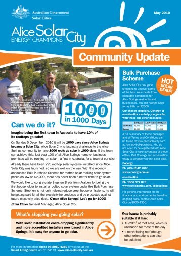 Community newsletter - May 2010 - Alice Solar City